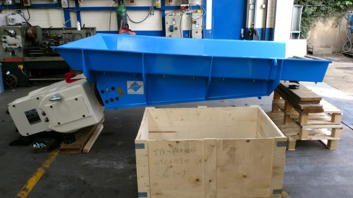 Produced for Thrane and Thrane Teknikk A.S., this SFH54 feeder is lined with 6mm abrasion resistant steel liner plates